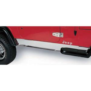 Body Armor - Rocker Armor & Accessories - Rugged Ridge - Rugged Ridge Rocker Panel Cover, Stainless Steel; 97-06 Jeep Wrangler TJ 11145.02