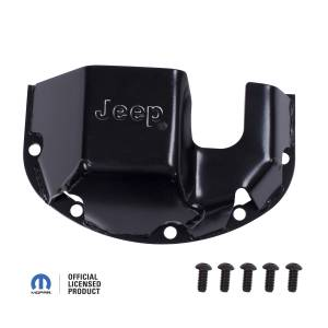 Rockers, Sliders & Skids - Skids - Rugged Ridge - Rugged Ridge Differential Skid Plate, Jeep logo, for Dana 30 DMC-16597.30
