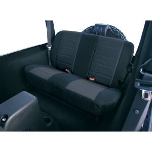 Interior - Seat Covers - Rugged Ridge - Rugged Ridge Fabric Rear Seat Covers, Black; 97-02 Jeep Wrangler TJ 13281.01
