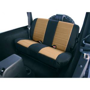 Interior - Seat Covers - Rugged Ridge - Rugged Ridge Fabric Rear Seat Covers, Tan; 97-02 Jeep Wrangler TJ 13281.04