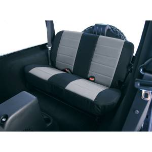 Interior - Seat Covers - Rugged Ridge - Rugged Ridge Fabric Rear Seat Covers, Gray; 97-02 Jeep Wrangler TJ 13281.09