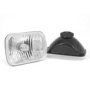 Lighting - Headlights - Rugged Ridge - Rugged Ridge Crystal H2 Headlights, Rectangular; 87-95 Jeep Wrangler YJ 12402.82