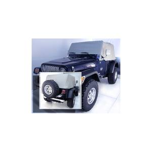 Tonneau Covers & Accessories - Truck Bed Accessories - Rugged Ridge - Rugged Ridge Cab Cover, Gray; 92-06 Jeep Wrangler YJ/TJ 13316.09