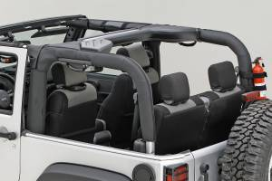 Interior - Roll Cages - Rugged Ridge - Rugged Ridge Roll Bar Cover, Black Polyester; 07-16 Jeep Wrangler JK 13613.02