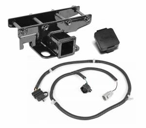 Towing Accessories - Receiver Hitches - Rugged Ridge - Rugged Ridge Receiver Hitch Kit, Jeep Logo; 07-16 Jeep Wrangler 11580.52