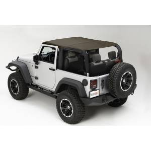 Exterior - Soft Tops - Rugged Ridge - Rugged Ridge Island Topper, Khaki Diamond; 07-09 Jeep Wrangler JK 13588.36