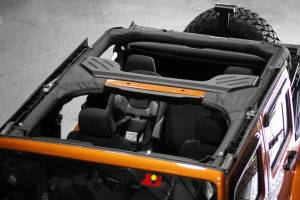 Interior - Roll Cages - Rugged Ridge - Rugged Ridge Roll Bar Cover, Polyester; 07-16 Jeep Wrangler JKU 13613.01