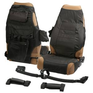 Interior - Seat Covers - Rugged Ridge - Rugged Ridge Interior Kit, Black; 87-06 Jeep Wrangler YJ/TJ 13235.80
