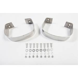 Exterior - Bumpers - Rugged Ridge - Rugged Ridge Rear Bumperettes, Stainless Steel; 76-95 Jeep CJ/Wrangler YJ 11108.01