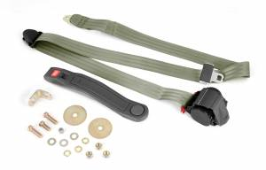 Interior - Misc. Interior Parts - Omix-Ada - Omix-Ada 3-Point Seat Belt, Olive, Retractable, Universal 13202.42
