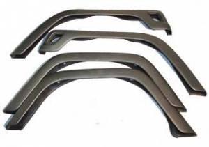 Exterior - Fenders & Accessories - Omix-Ada - Omix-Ada 4 Piece Fender Flare Kit; 97-06 Jeep Wrangler TJ 11603.02