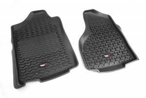 Interior - Floor Mats - Rugged Ridge - Rugged Ridge Floor Liners, Front, Black; 02-11 Dodge Ram 1500/2500/3500 82903.01