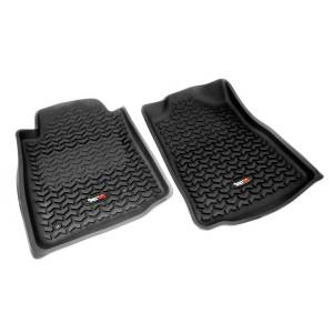 Interior - Floor Mats - Rugged Ridge - Rugged Ridge Floor Liners, Front, Black, Automatic; 05-11 Toyota Tacoma 82904.10