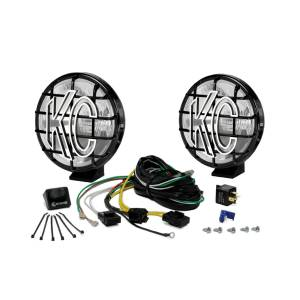 "KC HiLiTES - KC HiLiTES 6"" Apollo Pro Halogen Pair Pack System - Black - KC #151 (Spread Beam) 151 - Image 3"