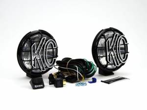 "KC HiLiTES - KC HiLiTES 6"" Apollo Pro Halogen Pair Pack System - Black - KC #152 (Fog Beam) 152 - Image 3"