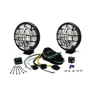 "KC HiLiTES - KC HiLiTES 6"" Apollo Pro Halogen Pair Pack System - Black - KC #9150 (Spot Beam) 9150 - Image 3"