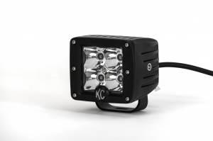 "KC HiLiTES - KC HiLiTES 3"" C-Series C3 LED Spot with Amber LED Pair Pack System - #315 315 - Image 1"