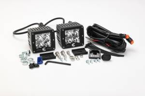 "KC HiLiTES - KC HiLiTES 3"" C-Series C3 LED Spot with Amber LED Pair Pack System - #315 315 - Image 3"