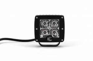 "KC HiLiTES - KC HiLiTES 3"" C-Series C3 LED Spot with Amber LED Pair Pack System - #315 315 - Image 4"
