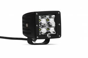 "KC HiLiTES - KC HiLiTES 3"" C-Series C3 LED Spot Beam Black Pair Pack System - #330 330 - Image 2"