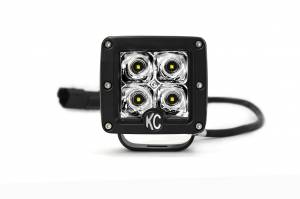 "KC HiLiTES - KC HiLiTES 3"" C-Series C3 LED Spot Beam Black Pair Pack System - #330 330 - Image 6"
