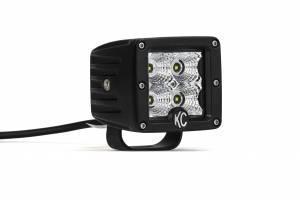 "Lighting - Flash Lights - KC HiLiTES - KC HiLiTES 3"" C-Series C3 LED Flood Beam Black Pair Pack System - #332 332"
