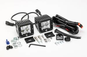 "KC HiLiTES - KC HiLiTES 3"" C-Series C3 LED Flood Beam Black Pair Pack System - #332 332 - Image 3"