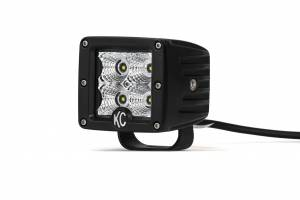 "KC HiLiTES - KC HiLiTES 3"" C-Series C3 LED Flood Beam Black Pair Pack System - #332 332 - Image 5"