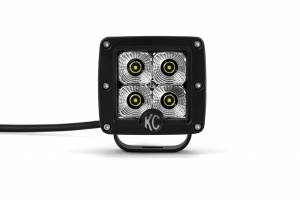 "KC HiLiTES - KC HiLiTES 3"" C-Series C3 LED Flood Beam Black Pair Pack System - #332 332 - Image 6"