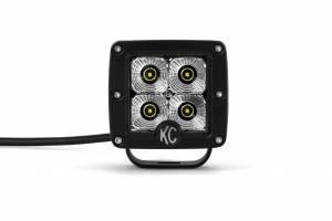 "KC HiLiTES - KC HiLiTES 3"" C-Series C3 LED Flood Beam Black Pair Pack System - #332 332 - Image 6"