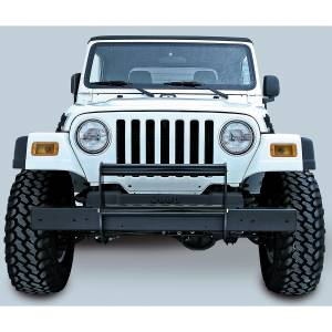 Exterior - Grille Guards and Bull Bars - Rugged Ridge - Rugged Ridge Brush Guard, Gloss Black; 97-06 Jeep Wrangler TJ 11511.02
