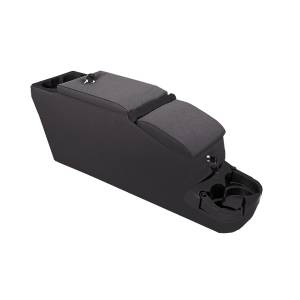 Interior - Storage & Cargo Baskets - Rugged Ridge - Rugged Ridge Ultimate II Locking Console, Black Denim; 76-95 Jeep CJ/Wrangler YJ 13103.15