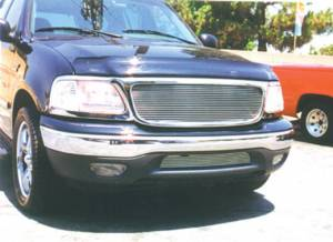 T-Rex - T-Rex 1997-2002 F150 & Expedition  BILLET ALUMINUM POLISHED Grille 21583