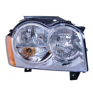 Lighting - Headlights - Omix-Ada - Omix-Ada Right Headlight Assembly; 05-10 Jeep Grand Cherokee WK 12402.18
