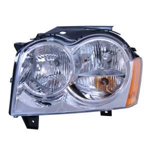 Omix-Ada Left Headlight Assembly; 05-10 Jeep Grand Cherokee WK 12402.19