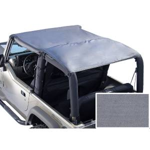 Exterior - Soft Tops - Rugged Ridge - Rugged Ridge Roll Bar Top, Gray; 76-91 Jeep CJ/Wrangler YJ 13554.09
