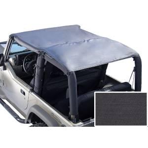 Exterior - Soft Tops - Rugged Ridge - Rugged Ridge Roll Bar Top, Black Denim; 76-91 Jeep CJ7/Wrangler YJ 13554.15