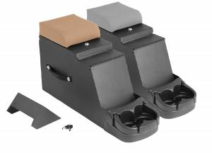 Interior - Storage & Cargo Baskets - Rugged Ridge - Rugged Ridge Stereo Security Console, Gray; 76-95 Jeep CJ/Wrangler YJ 13104.09