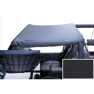 Exterior - Soft Tops - Rugged Ridge - Rugged Ridge Acoustic Header Brief, Black Denim; 97-06 Jeep Wrangler TJ 13583.15