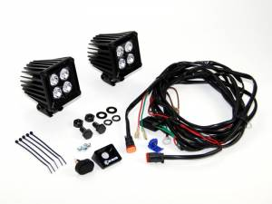 "KC HiLiTES - KC HiLiTES 3"" LZR LED Cube Pair Pack System - Black - KC #310 310 - Image 3"