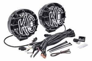 "KC HiLiTES - KC HiLiTES 6"" Pro-Sport with Gravity LED G6 Pair Pack System - Wide-40 Beam - #645 645 - Image 3"