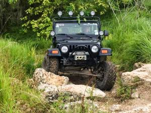 KC HiLiTES - KC HiLiTES 4-Tab Overhead Light Bar for Jeep Wrangler TJ (1997-2006) - Black - KC #7416 7416 - Image 3