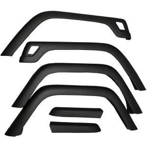 Exterior - Fenders & Accessories - Omix-Ada - Omix-Ada 6 Piece Fender Flare Kit; 97-06 Jeep Wrangler TJ 11603.01
