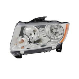 Lighting - Headlights - Omix-Ada - Omix-Ada Headlight Assembly, Left; 11-13 Jeep Grand Cherokee WK 12402.27