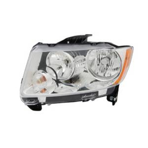 Lighting - Headlights - Omix-Ada - Omix-Ada Headlight Assembly, Left; 11-14 Jeep Compass MK 12402.33