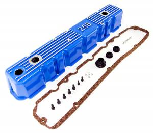 Engine Parts - Misc. Engine Parts - Omix-Ada - Omix-Ada Blue Aluminum Valve Cover; 81-87 Jeep CJ/Wrangler YJ 17401.11
