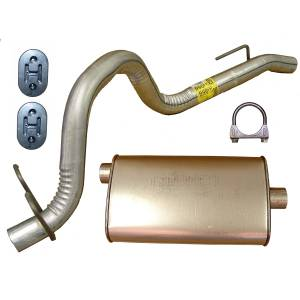 Exhaust, Mufflers & Tips - Mufflers - Omix-Ada - Omix-Ada Muffler and Tailpipe; 91-92 Jeep Wrangler YJ 17611.03