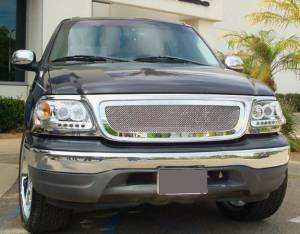T-Rex - T-Rex 1997-2002 F150 & Expedition  Upper Class STAINLESS POLISHED Grille 54580