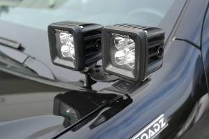 ZROADZ - ZROADZ DODGE  RAM 1500 A-Pillar 4 LED Pod Lights Kit Z364521-KIT4