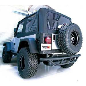 Exterior - Bumpers - Rugged Ridge - Rugged Ridge RRC Rear Bumper, 2 Inch Receiver Hitch; 87-06 Jeep Wrangler YJ/TJ 11503.11